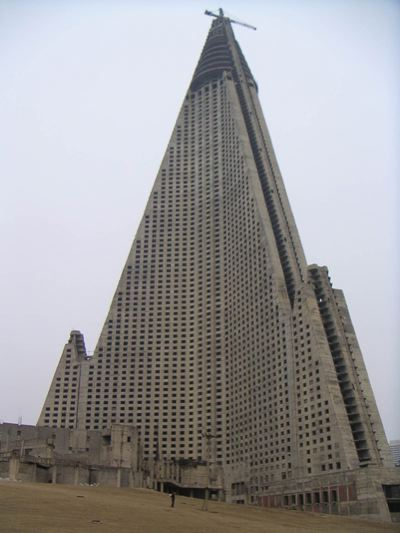 Ryugyong Hotel Closeup