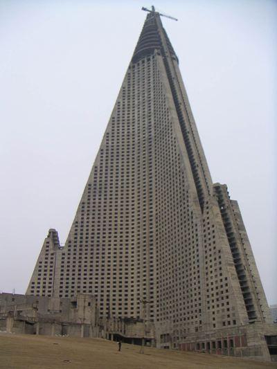 Ryugyong Hotel Closeup