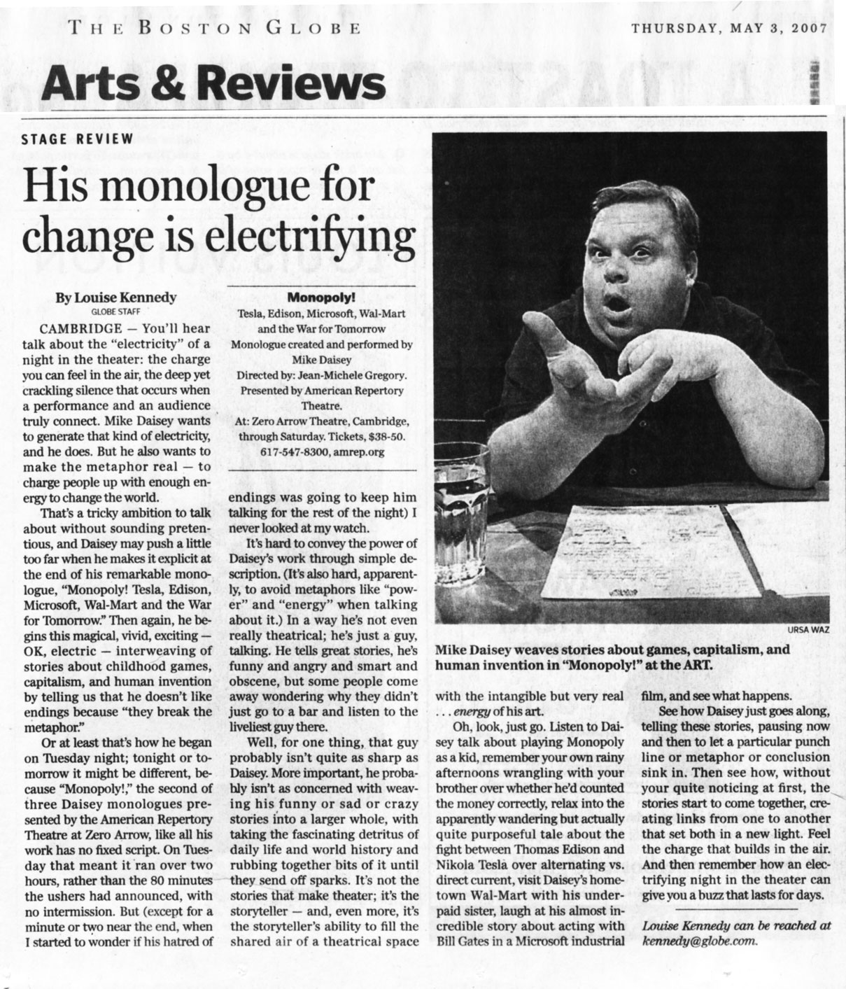 Mike Daisey: Monologues
